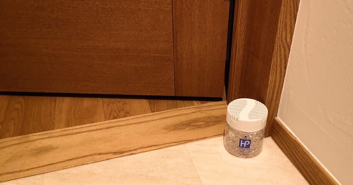 トイレの入り口付近に置いた消臭ビーズ140g