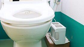 エアソフィアベースを使ったトイレのニオイ対策
